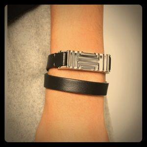 03e6395e8f489 Tory Burch For Fitbit Leather Bracelet - flex
